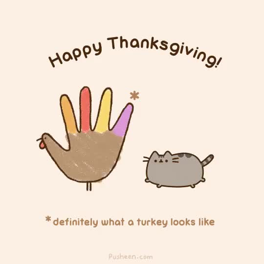 Watch and share Happy Thanksgiving GIFs and Pusheen GIFs on Gfycat