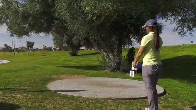 Watch Round Two 2019 Memorial Championship - Jennifer Allen hole 11 drive GIF by Benn Wineka UWDG (@bennwineka) on Gfycat. Discover more Sports, dgpt, disc golf, disc golf pro tour GIFs on Gfycat