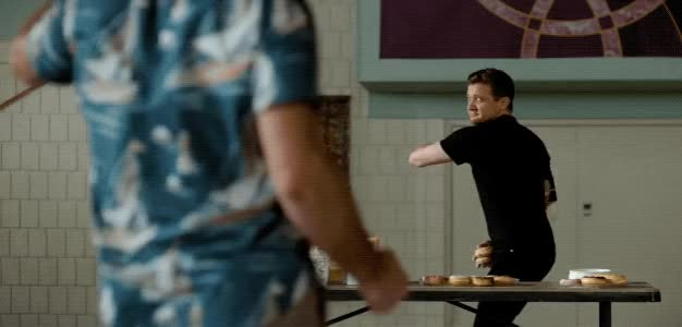 Watch and share Jeremy Renner GIFs and Ed Helms GIFs by Reactions on Gfycat
