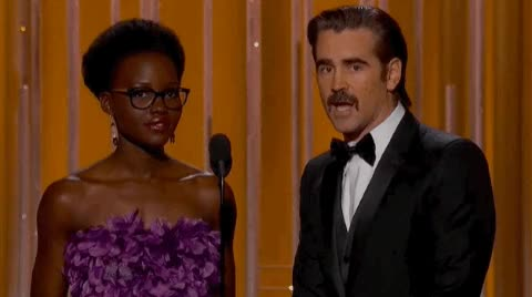 Watch Lupita N'yongo wore glasses. The Internet freaked out. GIF on Gfycat. Discover more colin farrell, lupita nyong'o GIFs on Gfycat