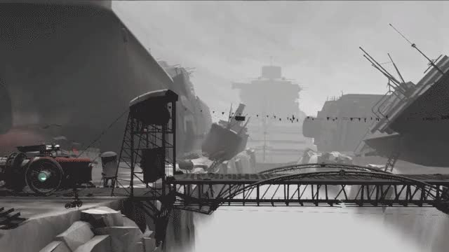 Watch and share Far Lone Sails GIFs and Monochrome GIFs by Mixtvision Games on Gfycat