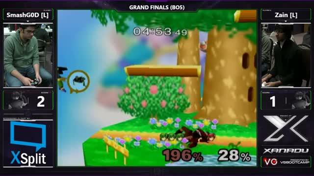 S@X 184 - SmashG0D (Marth) Vs. SSI   Zain (Marth) - SSBM Grand Finals - Smash Melee