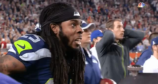 Watch Superbowl - Sherman Reaction GIF on Gfycat. Discover more nfl GIFs on Gfycat
