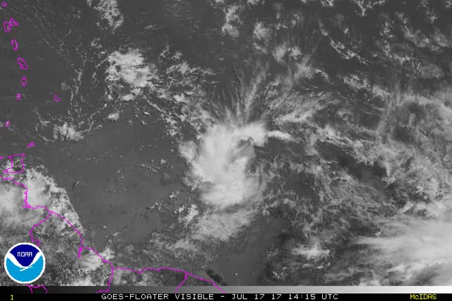 Watch and share Tropical Storm Don - July 17, 2017 GIFs by The Watchers on Gfycat