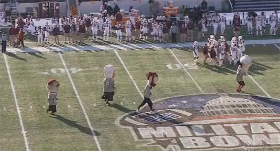 Watch and share Presidents Mascot Race At Military Bowl GIFs by cjzero on Gfycat