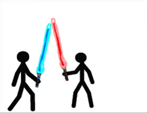 Watch and share Stickman Jedi GIFs on Gfycat