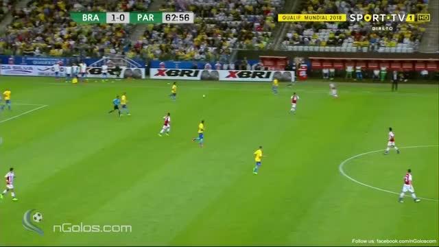 Watch and share Brazil 2-0 Paraguay - Neymar 64' (Amazing Individual Play) GIFs on Gfycat