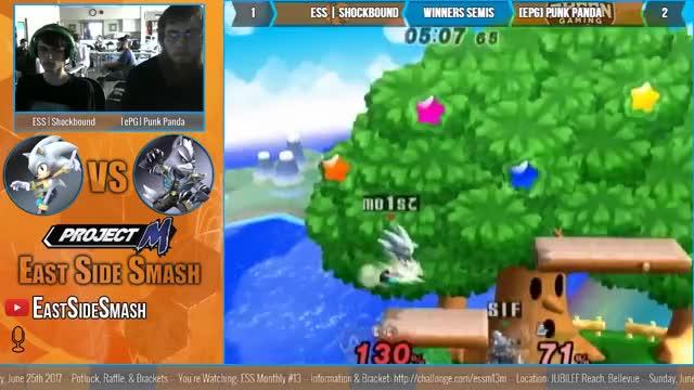 Watch ESS Monthly #13: ESS | Shockbound (Sonic) vs [ePG] Punk Panda (Wolf) - Winners Semis - Project M GIF by @shockbound on Gfycat. Discover more ssbpm GIFs on Gfycat
