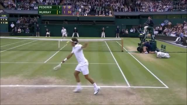 Watch Federer Murray Wimbledon GIF on Gfycat. Discover more related GIFs on Gfycat