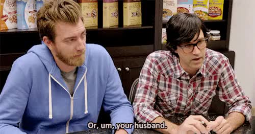 Watch kink neal GIF on Gfycat. Discover more 736, 8, I'm pretty sure they dubbed in Link saying husband because his lips are saying -I don't know-, gif, gmm, good mythical morning, rhett and link, ~ GIFs on Gfycat