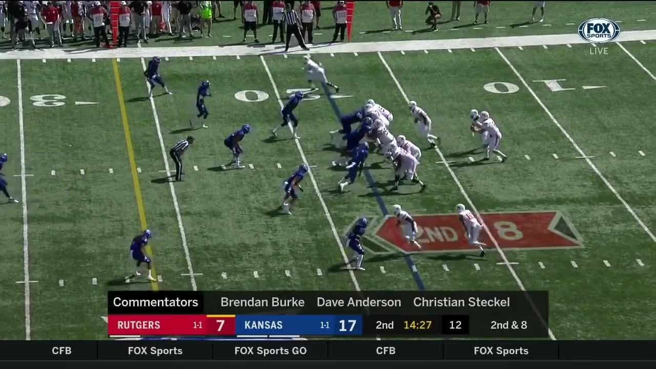 football, Rutgers vs Kansas 2018 CFB Highlights (HD) GIFs