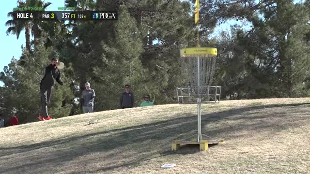 Watch 2019 LVC - Round 2 Calvin Heimburg hole 4 putt GIF by Benn Wineka UWDG (@bennwineka) on Gfycat. Discover more dgpt, dgwt, disc, disc golf, mcbeast, nate sexton, paul mcbeth, pdga, simon lizotte, tournament GIFs on Gfycat