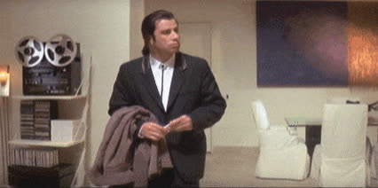 confused, idk, john travolta, pulp fiction, vincent vega, what, John Travolta - Pulp Fiction GIFs