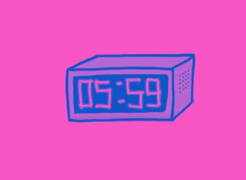 alarm, clock, coffee, late, pink, ring, sleep, sleepy, tired, up, wake, wake up, work, Wake up GIFs