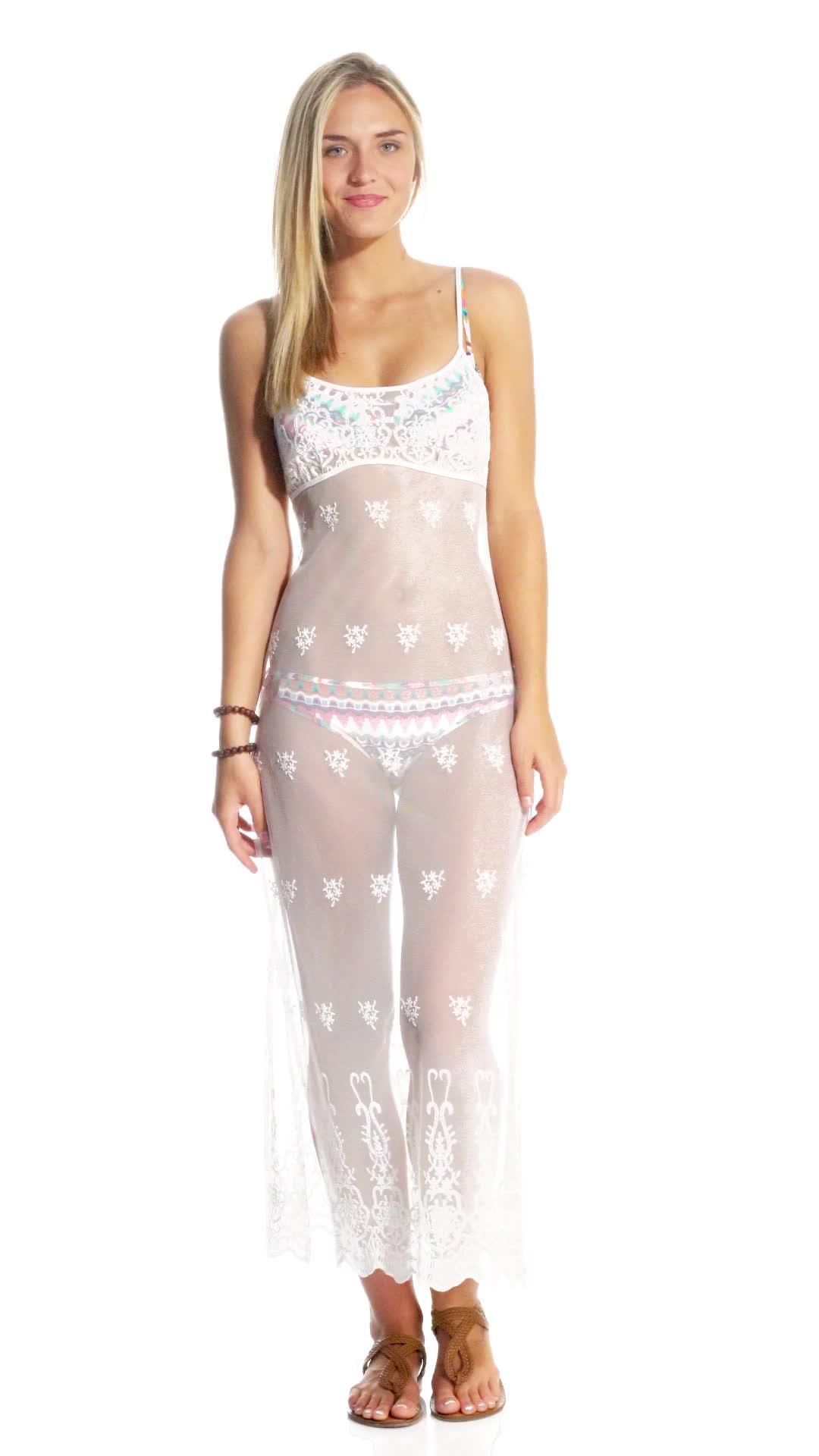 clairegerhardstein, Bikini Lab Shell Yeah Cover Up Dress GIFs