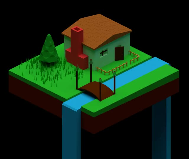 Watch and share Low-poly-house GIFs on Gfycat