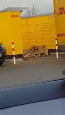 Watch and share DHL Wirft Pakete Aus Dem Wagen GIFs on Gfycat