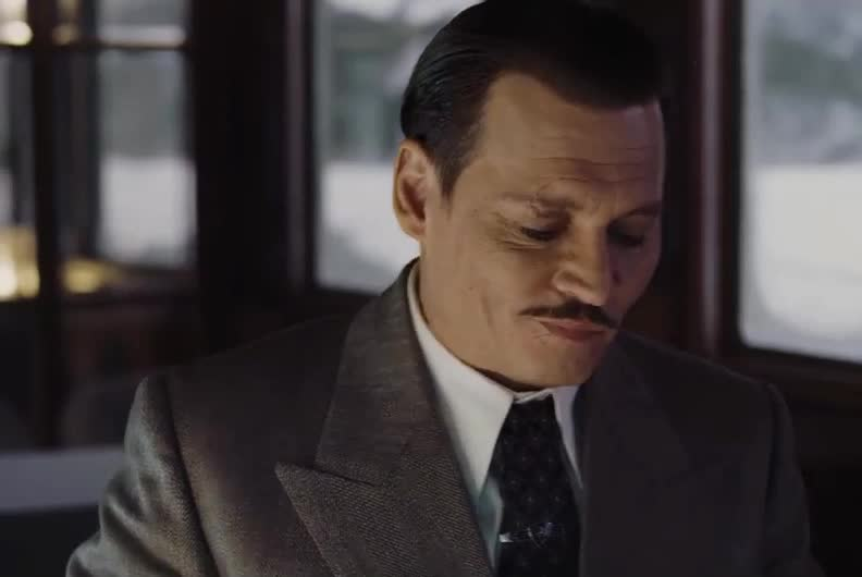 annoyed, deal, depp, express, gangster, gotcha, handsome, hot, i'm, in, johnny, johnny depp, mad, murder, mustache, ok, orient, sexy, yes, Murder on the Orient Express GIFs