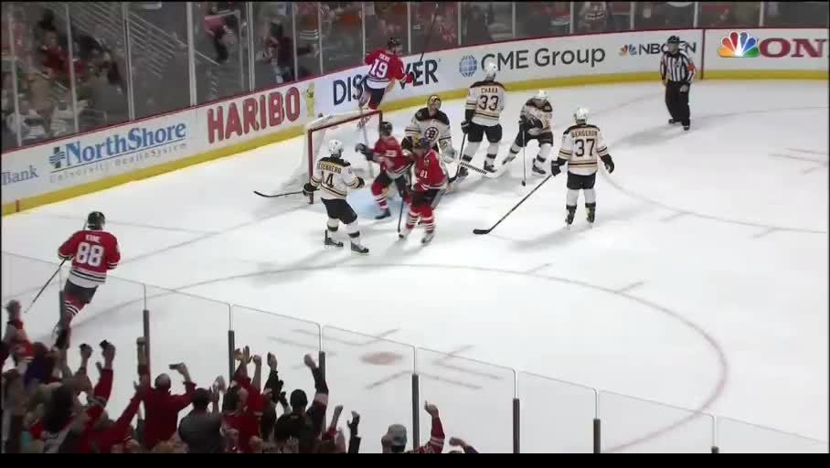 hockey, suomi, Tuukka Rask with the Tuukka smash on the goal post, gets a piece of Versteeg (reddit) GIFs
