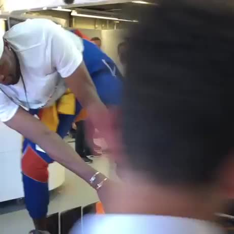 Watch and share Ibaka-trying-to-fit-into-a-formula1-car GIFs on Gfycat