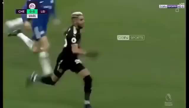Watch and share What A Performance! Riyad Mahrez Vs Chelsea 01/13/2018 GIFs on Gfycat