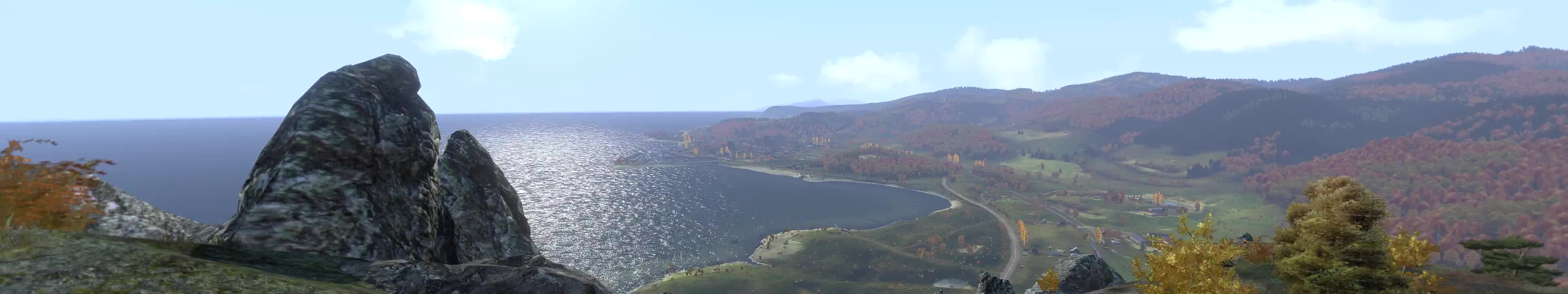 arma, Chernarus Timelapse Captured in 5760x1080 (reddit) GIFs