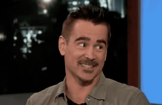 Watch and share Colin Farrell GIFs and Oops GIFs by Reactions on Gfycat