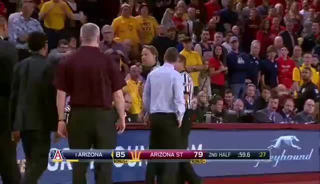 Bobby Hurley loses his mind and is ejected in loss to Arizona - College Basketball Highlight GIFs