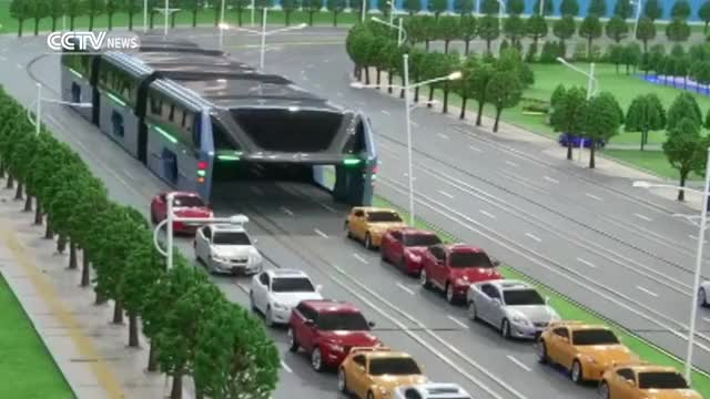 Watch Elevated bus debuts at Beijing International High-Tech Expo GIF on Gfycat. Discover more cctv, interestingasfuck, news GIFs on Gfycat