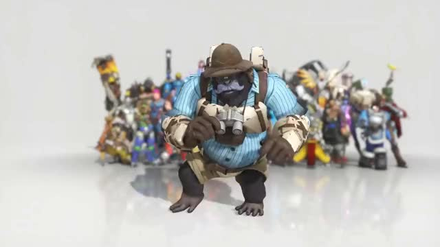 Watch [Overwatch] - Winston Emote ; Dance GIF on Gfycat. Discover more annerversy, anniversary, dancing, emote, overwatch, winston GIFs on Gfycat