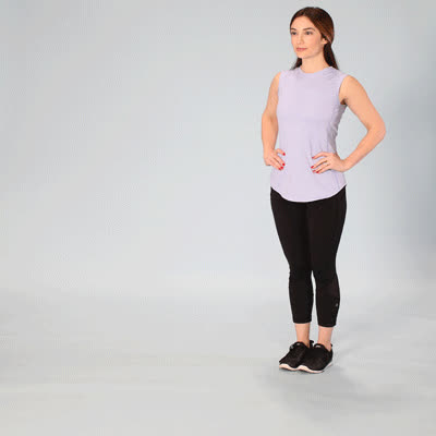 400x400 Hip Extension Exercises to Try at Home Alternating Forward Lunge GIFs