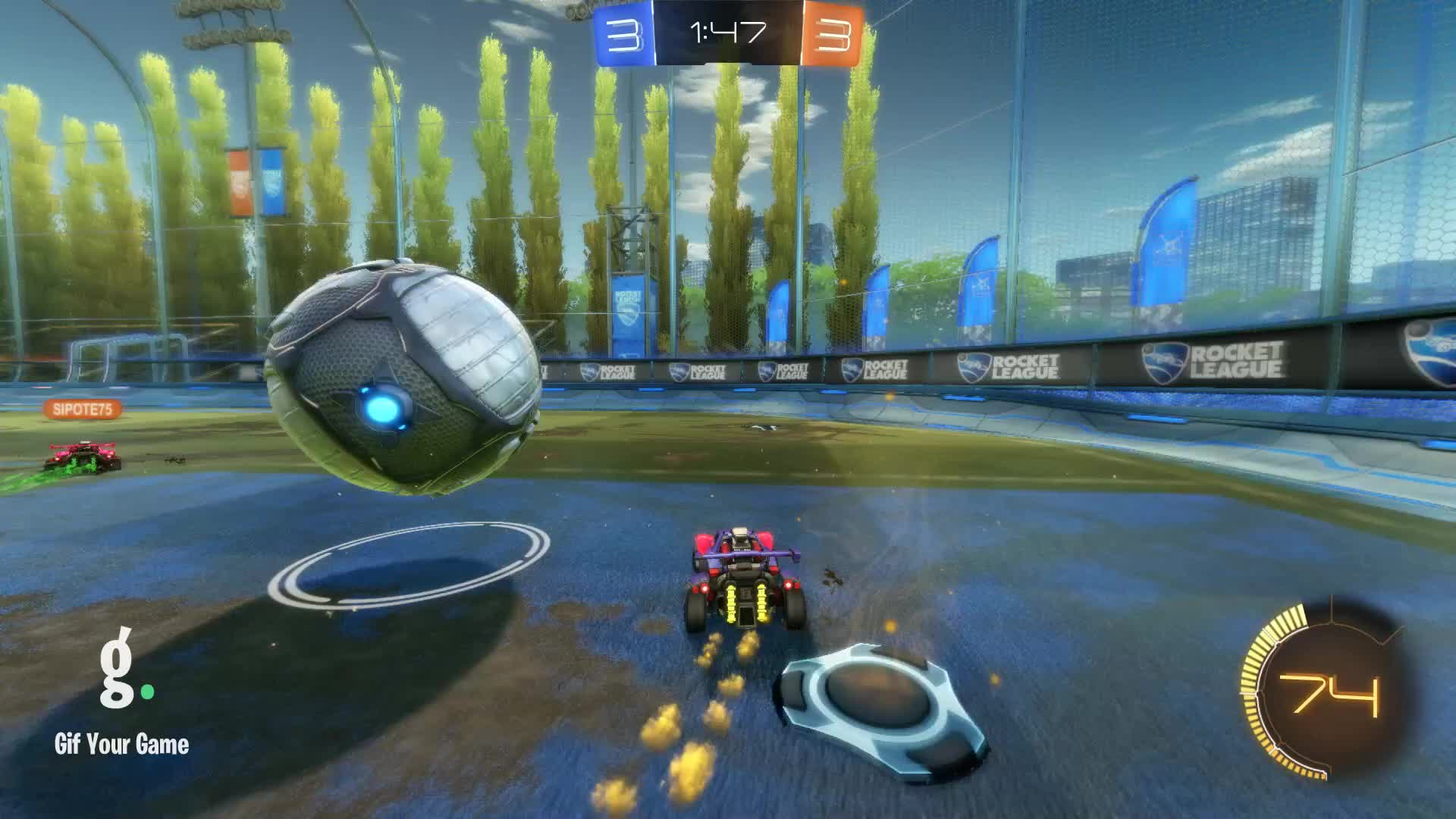 Gif Your Game, GifYourGame, Goal, Rocket League, RocketLeague, trisk, Goal 7: trisk GIFs