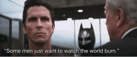 Christian Bale, pcmasterrace, some men just want to watch the world burn GIFs