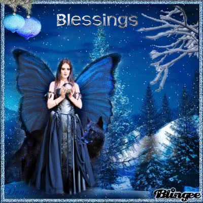 Watch Blue Christmas Angel Blessings GIF on Gfycat. Discover more related GIFs on Gfycat