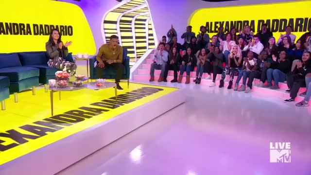 Watch and share Alexandra Daddario TRL January 2018 Entrance GIFs on Gfycat