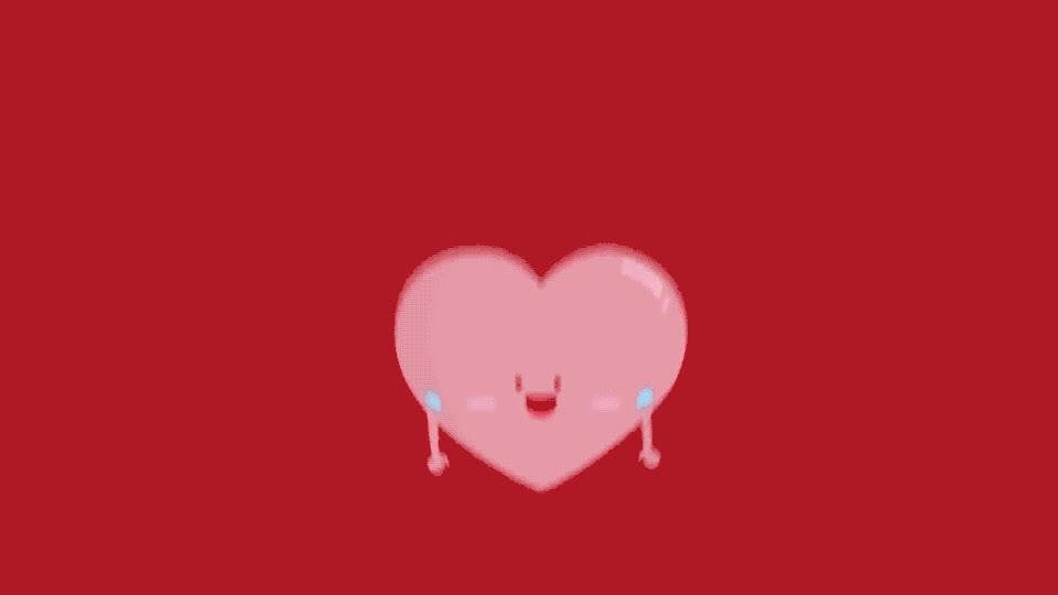 I love you, celebrate, happy, heart, hearts, hello, hey, hi, in love, jump, love, smile, smily, there, together, u, valentine, you, Happy hearts GIFs