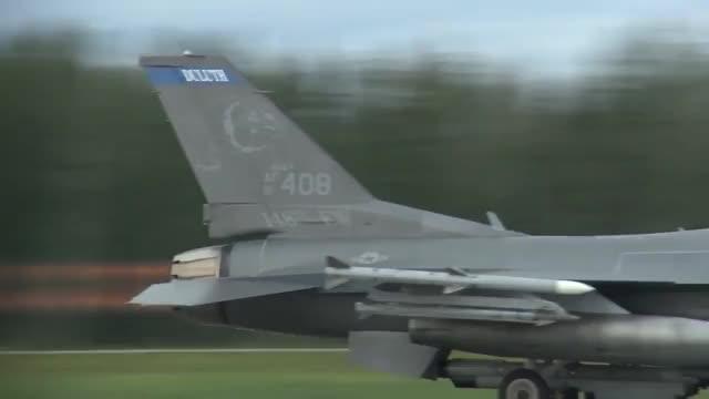 F-16 Takeoff in RED FLAG-Alaska Exercise (reddit) GIF by (@kaekru