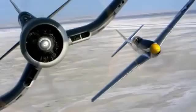 Watch and share P-51 Mustang Vs F4U Corsair - Breitling Full Spot GIFs on Gfycat