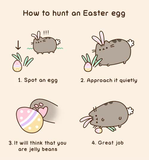 Watch and share Easter Egg GIFs and Pusheen GIFs by Reactions on Gfycat