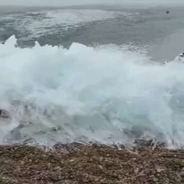 Watch and share Frozen Waves In Baikal This Is A Must See Turn Your Audio On Online Video Cutter Com GIFs on Gfycat