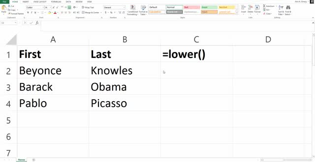 Watch and share Ann K. Emery On Switching All Letters To Lowercase In Your Spreadsheet GIFs on Gfycat