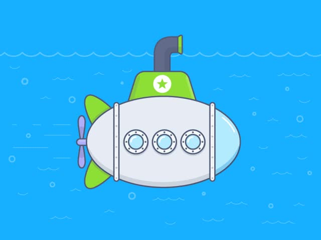Watch and share Submarine Illustration GIFs on Gfycat