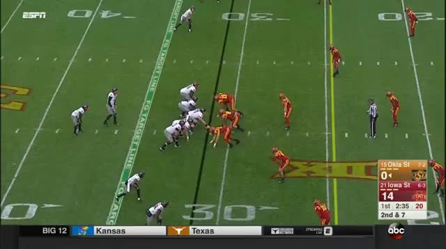 Watch and share Oklahoma State Cowboys - Edge Run Against Pinch GIFs by jjiii31 on Gfycat