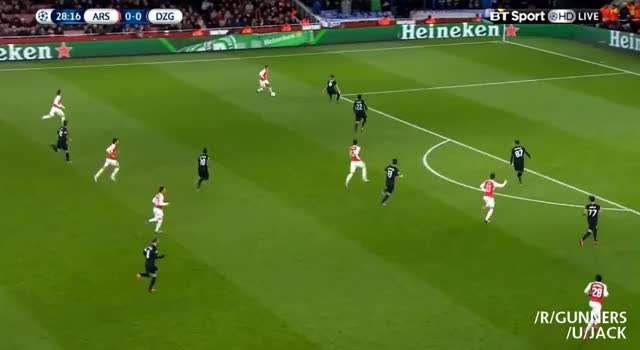 Watch Ozil's goal vs. Dinamo Zagreb (reddit) GIF on Gfycat. Discover more gunners GIFs on Gfycat
