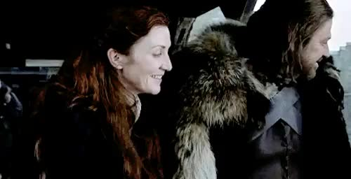 Watch this eddard stark GIF on Gfycat. Discover more because sometimes you just want smiley ned and cat, catelyn stark, catelyn tully, eddard stark, game of thrones, michelle fairley, ned and cat, ned stark, nedxcat, sean bean GIFs on Gfycat