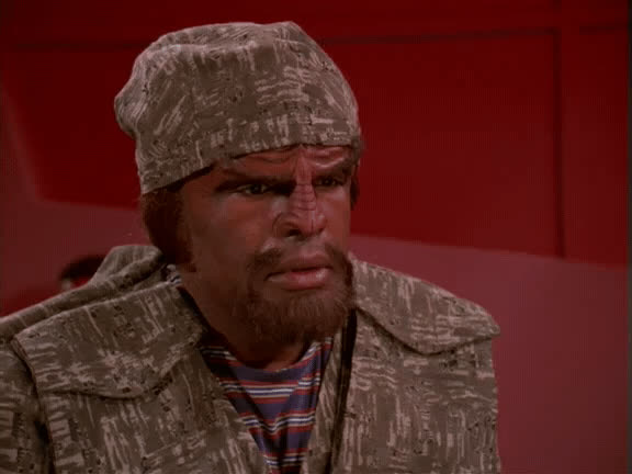 deep space 9, ds9, klingons, michael dorn, star trek, worf, MRW I get asked why r/startrekgifs hasn't been on the front page for 8 months GIFs