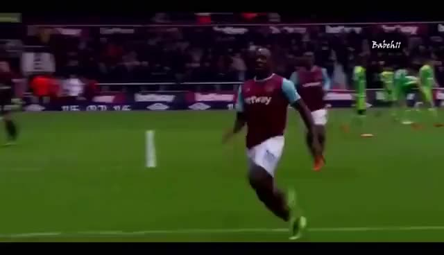 Watch and share Michail Antonio Goal And What A Funny Celebration! - West Ham United Vs Sunderland Highlights Goals GIFs on Gfycat