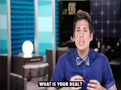 Watch and share Anthony, La Hair, What Is Your Deal, What, Confused GIFs on Gfycat