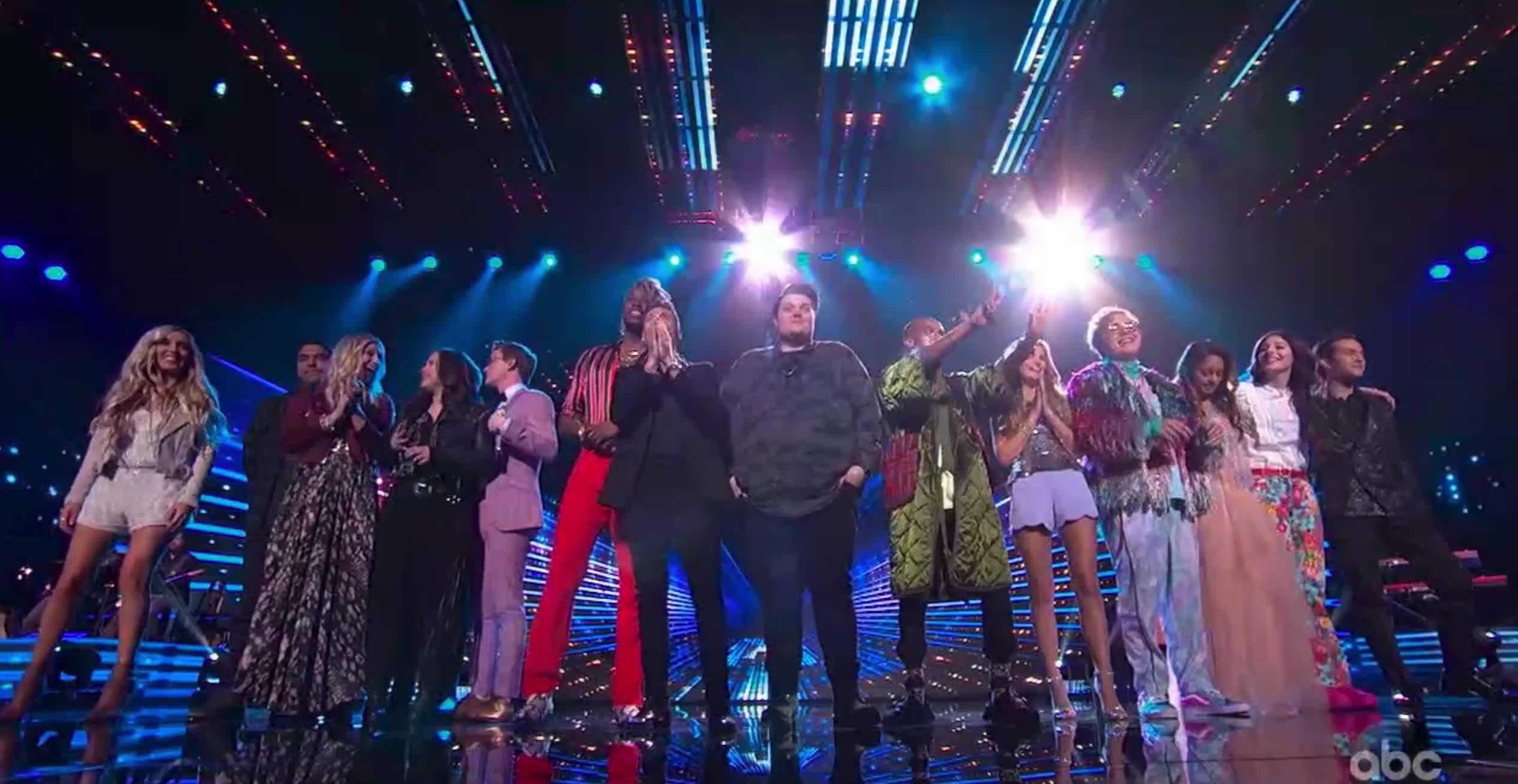 american idol, american idol season 17, americanidol, katy perry, lionel richie, luke bryan, ryan seacrest, season 17, singing, American Idol Ryan and The Top 14 Contestants GIFs