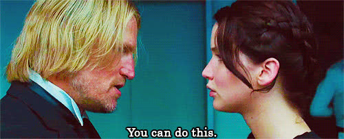 do it, hunger games, jennifer lawrence, just do it, the hunger games, woody ha GIFs